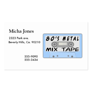 80s Metal Mix Tape Cassette Business Card