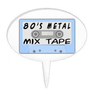 80s Metal Mix Tape Cassette Cake Topper