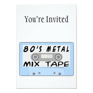 80s Metal Mix Tape Cassette Card