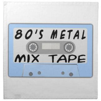 80s Metal Mix Tape Cassette Cloth Napkin