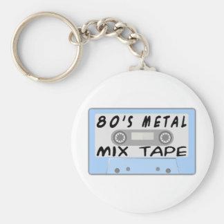 80s Metal Mix Tape Cassette Keychain