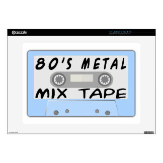 80s Metal Mix Tape Cassette Laptop Skins