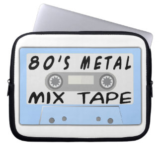 80s Metal Mix Tape Cassette Laptop Sleeves