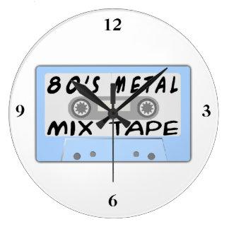 80s Metal Mix Tape Cassette Large Clock