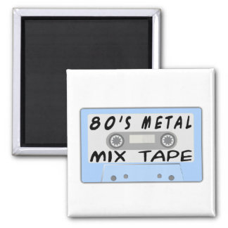 80s Metal Mix Tape Cassette Magnet