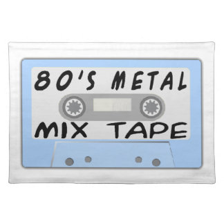 80s Metal Mix Tape Cassette Placemat