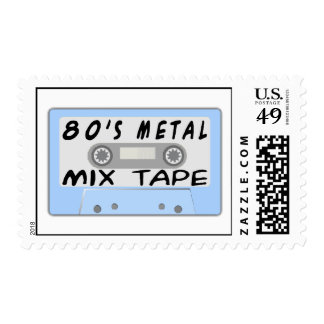 80s Metal Mix Tape Cassette Postage Stamp