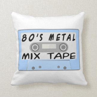 80s Metal Mix Tape Cassette Throw Pillow
