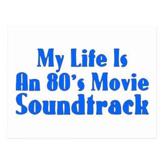 80's Movie Soundtrack Postcard