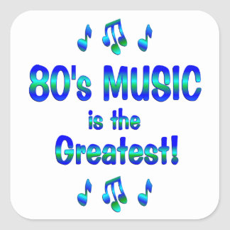 80s Music is the Greatest Sticker