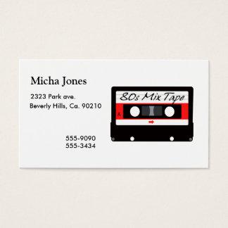 80s Music Mix Tape Cassette Business Card