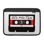 80s Music Mix Tape Cassette Sleeves For MacBook Air