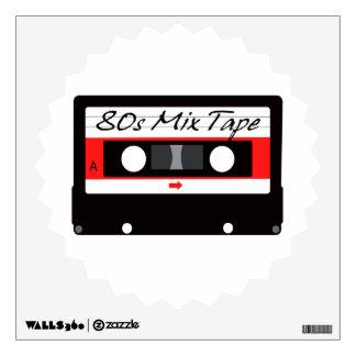 80s Music Mix Tape Cassette Wall Sticker