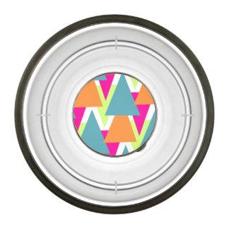 80's Neon Geometric Pattern Bowl