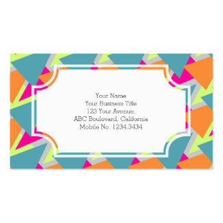 80's Neon Geometric Pattern Double-Sided Standard Business Cards (Pack Of 100)