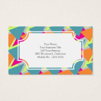 80's Neon Geometric Pattern Business Card