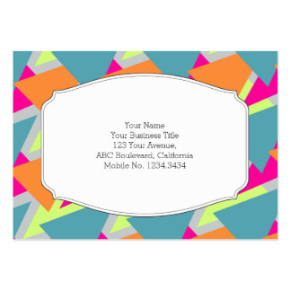 80's Neon Geometric Pattern Large Business Cards (Pack Of 100)