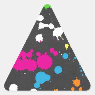 80's Neon Paint Splatter Triangle Sticker