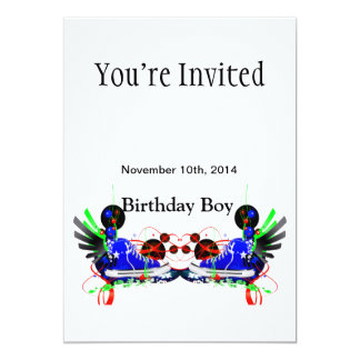 80's Neon Sneakers It's My Birthday Date Card