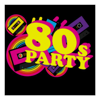80s Partty Póster