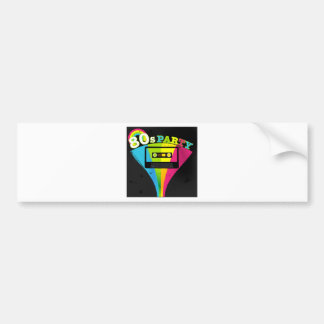 80s Party Background Bumper Sticker