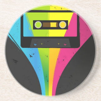 80s Party Background Coaster