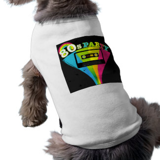 80s Party Background Pet Tee