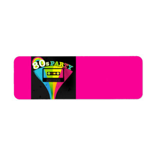 80s Party Background Label