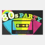 80s Party Background Sticker