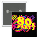 80s Party Button