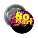 80s Party Buttons