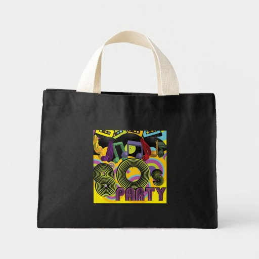 80s Party Canvas Bags