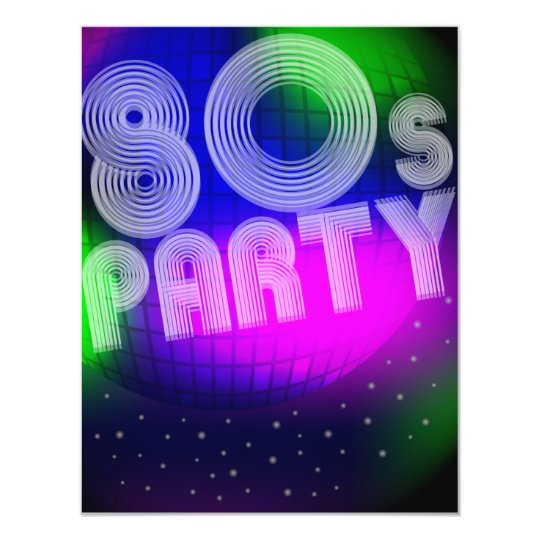 80s Party Card