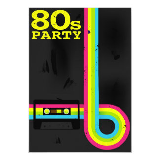 Cassette Tapes Invitations Announcements Zazzle - 80s party invitation template