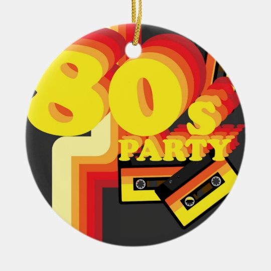 80s Party Ceramic Ornament