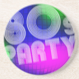 80s Party Drink Coaster