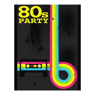 """80s party 8.5"""" x 11"""" flyer"""