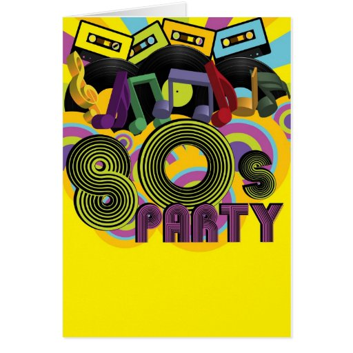 80s Party Greeting Card