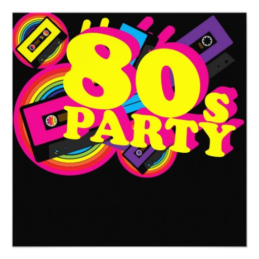 80S Party Invitations and get inspiration to create nice invitation ideas