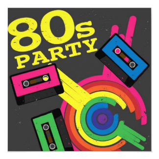 80s party invitations