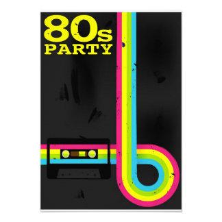 80s party custom invite
