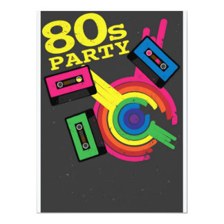 80s party personalized invite