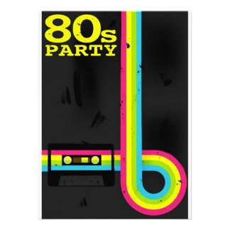 232 1980s Party Invitations 1980s Party Announcements