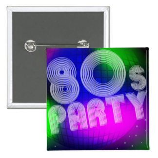 80s Party Pinback Button
