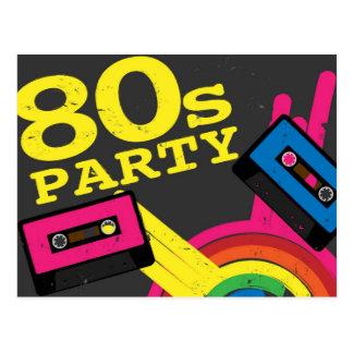 80s party postcard