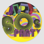 80s Party Stickers