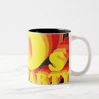80s Party Two-Tone Coffee Mug