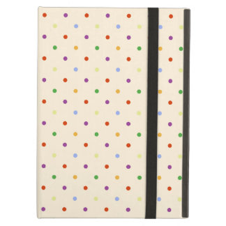 80s petite rainbow girly cute polka dots pattern case for iPad air