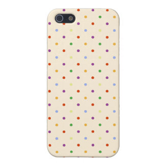 80s petite rainbow girly cute polka dots pattern case for iPhone SE/5/5s