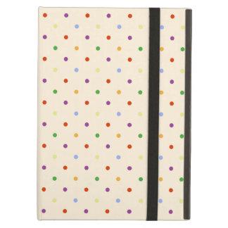 80s petite rainbow girly cute polka dots pattern iPad air cover